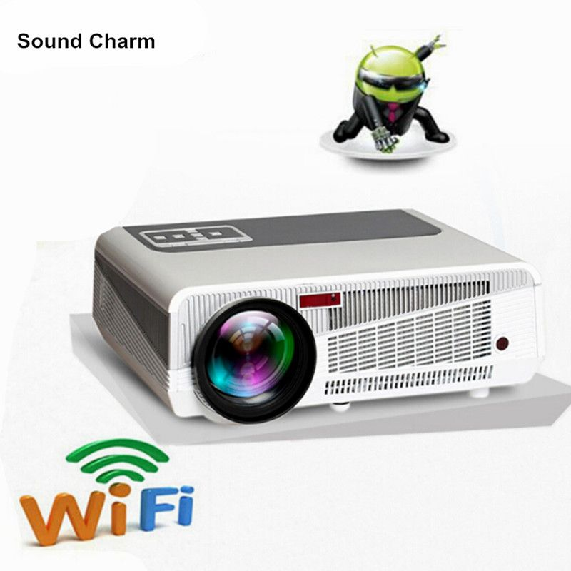 5500 lumen intelligente Android 4.4 lcd tv led-projektor-unterstützung full hd 1080 P 3d heimkino digital video proyector beamer