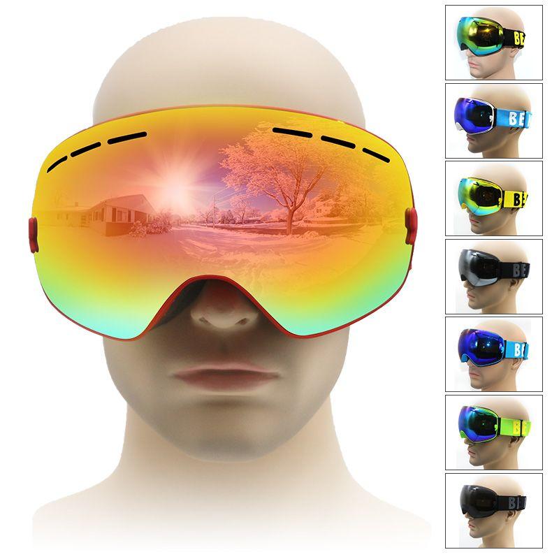 Лыжные очки двойной UV400 Анти-туман большой Лыжная маска очки на лыжах мужские и женские зимние, очки для катания на сноуборде для взрослых