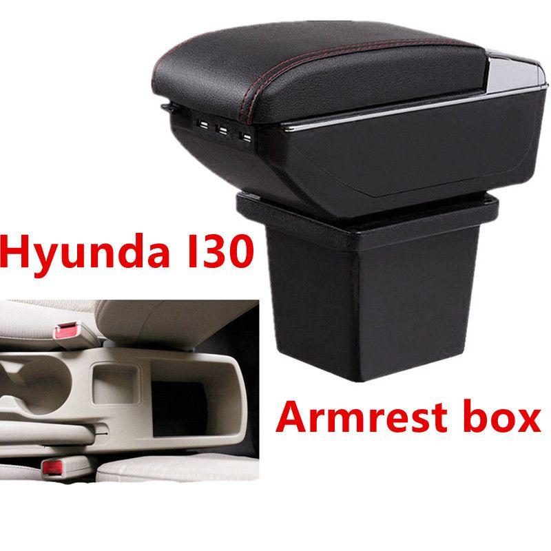 Leather Car Center Console Armrests Storage Box for Hyundai Elantra Touring i30 i30cw Armrest box Auto Interior Parts 2009 2010