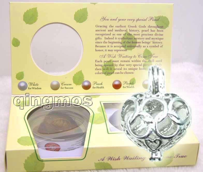Populaire Cadeau Vente Une Boîte GRAND Coeur pendentif Envies Collier de Perles set envies attente se true-3622_7 Gros/au détail