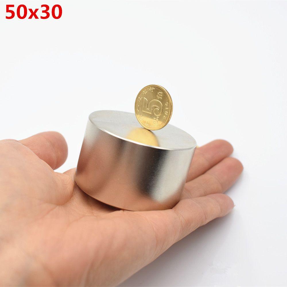 Aimant néodyme 50x30 N52 terre rare super forte puissant aimant de recherche de soudage rond 50*30mm électroaimant en métal gallium