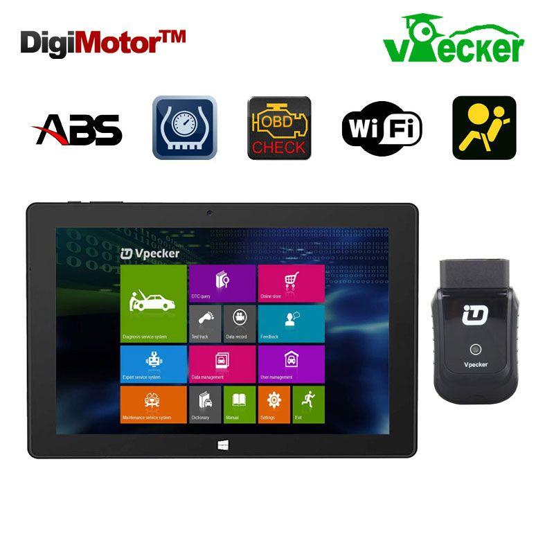 Win10 10.1 дюймов Планшеты + vpecker EasyDiag сканер automotriz OBD2 Wi-Fi код сканер диагностический инструмент автомобильной диагностический инструмент
