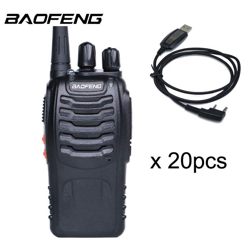 20 PCS Baofeng BF-888S Walkie Talkie 5W Handheld Pofung bf 888s UHF 400-470MHz 16CH Two-way Portable CB Radio