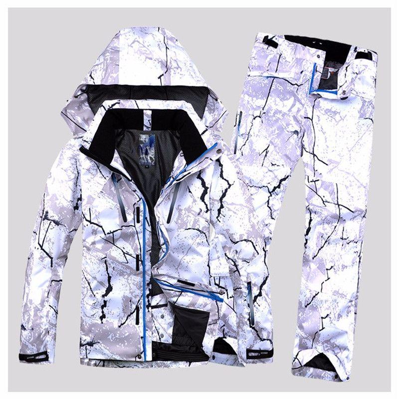 Garantieren Authentische Männliche Ski Anzüge Jacke + Pants herren Wasserdichte Thermische Cottom Gefütterte Snowboard 2018 KOSTENLOSER VERSAND
