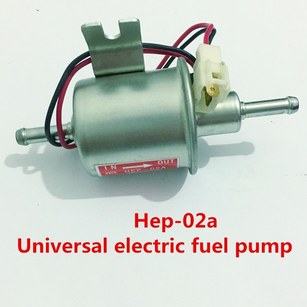 Universal diesel petrol gasoline 12v electric fuel pump HEP-02A low pressure fuel pump For Carburetor,Motorcycle,ATV