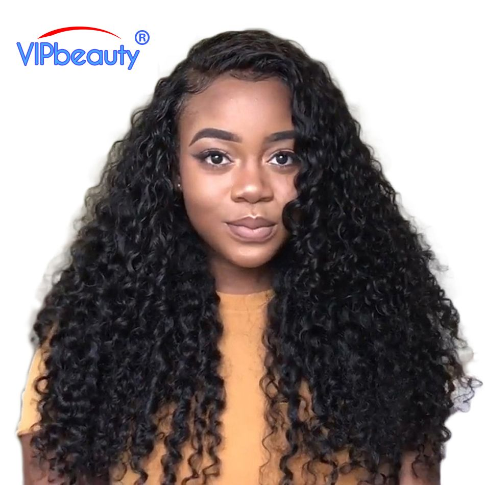 Vip beauty Peruvian Deep Curly Hair 100% Human Hair Weave Bundles Non-remy Hair Extensions 3 or 4 bundles