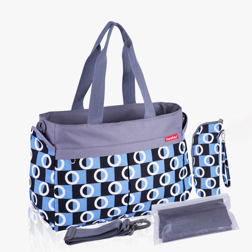 2016 nouvelle multicolore dot de maternité mère sacs à couches bébé à langer poussette sacs maman grand sac à main de maman sac à langer