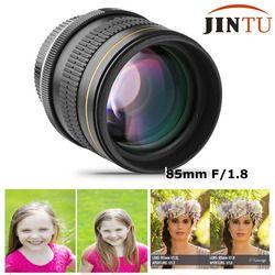 JINTU 85mm f/1.8-F22 Portrait Aspherical Manual Camera Telephoto Lens For Canon EOS 5D mark iii ii 7D ii 6D 80D 70D 60D 60Da 40D