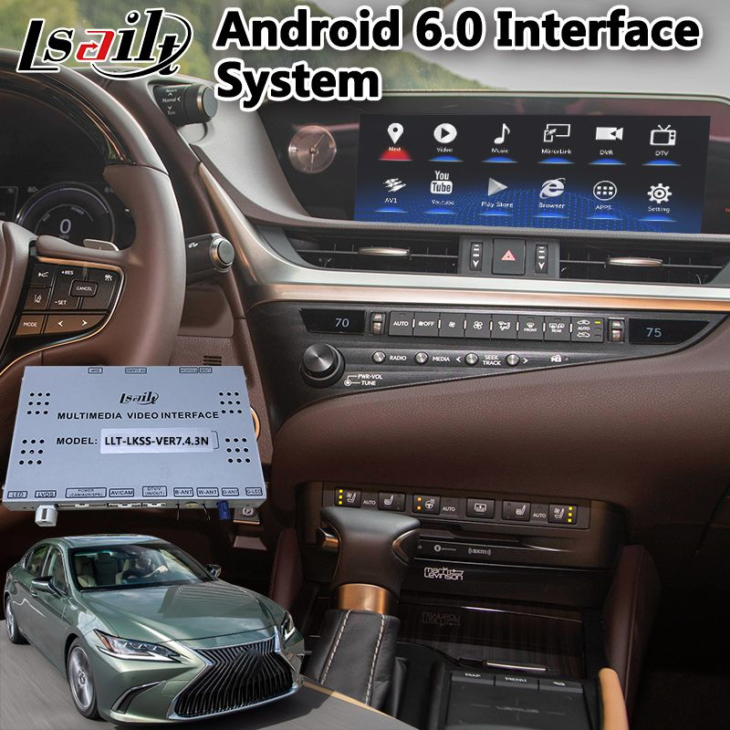 Lsailt 8/10,25 Zoll Android multimedia Video Interface für Lexus 2019 ES250 ES350 ES 300 h mit Touchpad Control GPS Navigation
