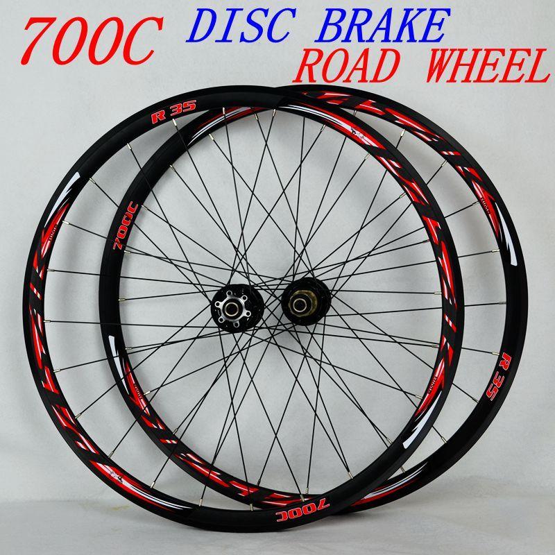 Pasak Wheelset 700C Disc Brake Road Wheels Road Bicycle Aviation Aluminum Alloy Road Bike Wheel V/C Brake 29er Cross-country