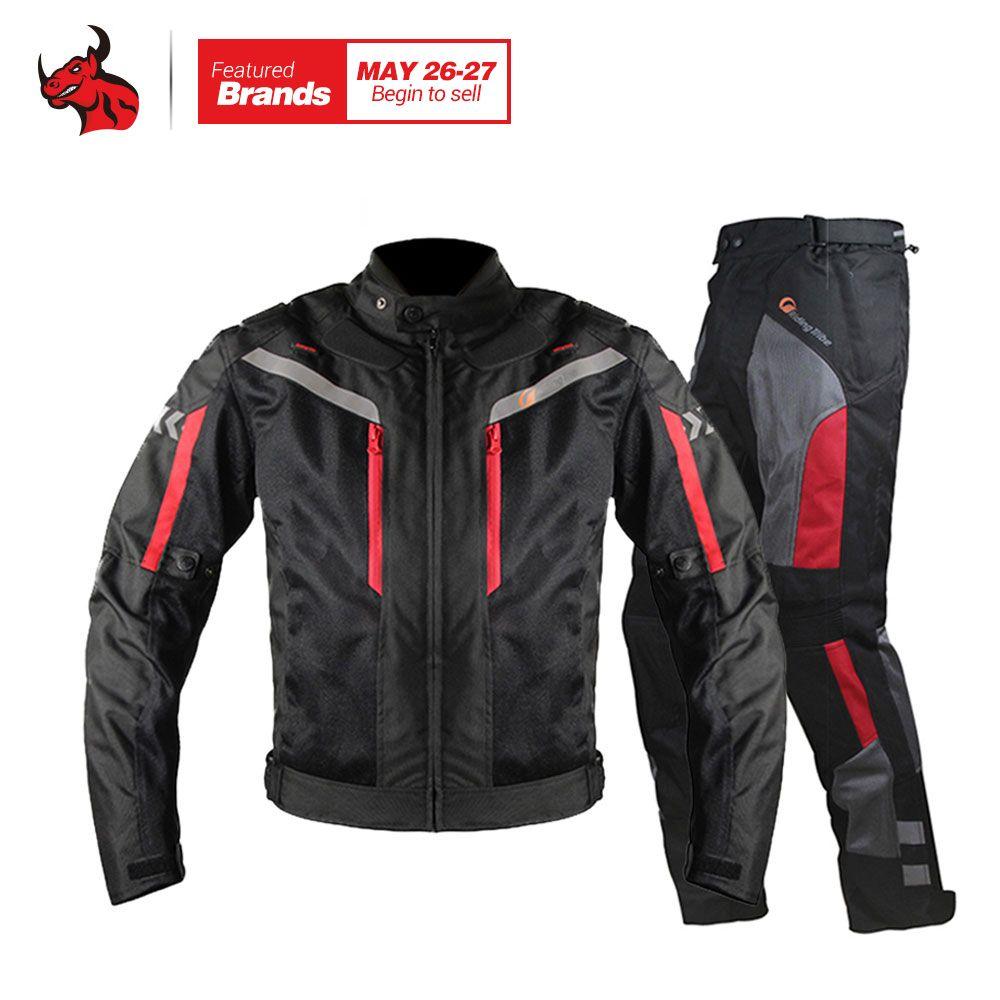 Reiten Tribe Motorradjacke Männer Atmungsaktiv Motorrad Hosen Moto Jacke Winddicht Motorrad Cruiser Touring Kleidung Regenmantel