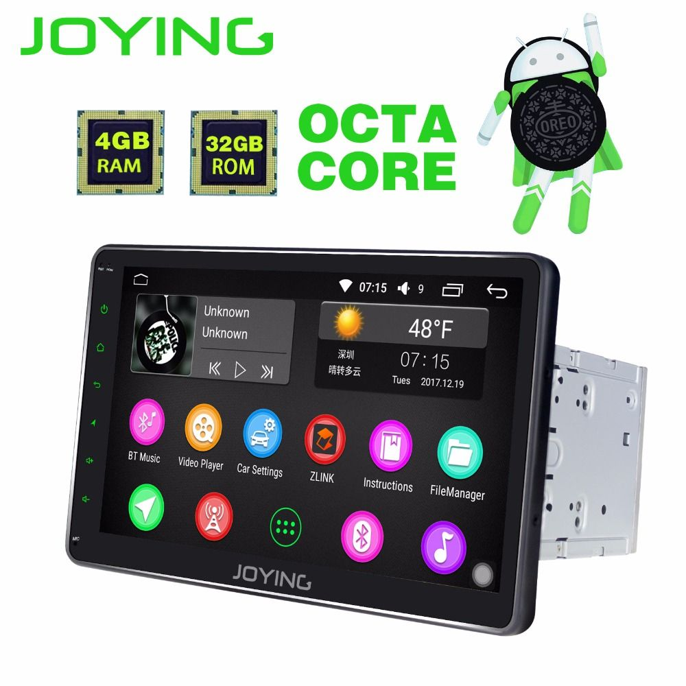 JOYING Latest HD 10'' 4GB RAM Octa 8 Core Android 8.0 Car Radio FM RDS Audio Autoradio Player Stereo GPS head unit tape recorder