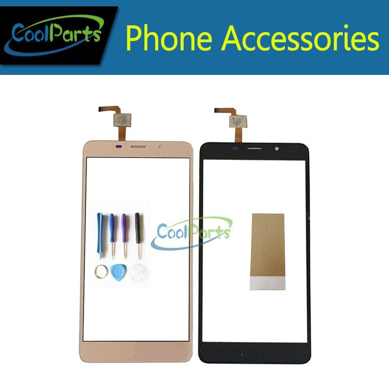 1pc/Lot High Quality 5.7'' Original For Leagoo M8 Touch Screen Digititer Touch Panel Lens Glass With Tool &Tape Black Gold Color