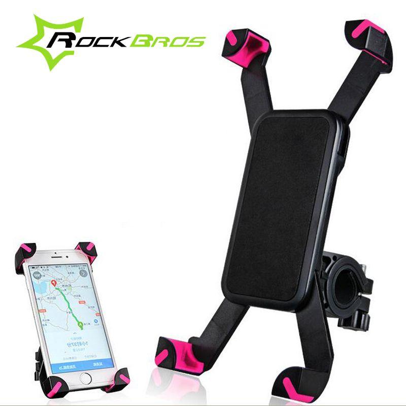 ROCKBROS accessoires de vélo sac de vélo sac de vélo anti-dérapant vtt support pour téléphone vélo vélo support 360 rotation pour 3.5-6.5 pouces