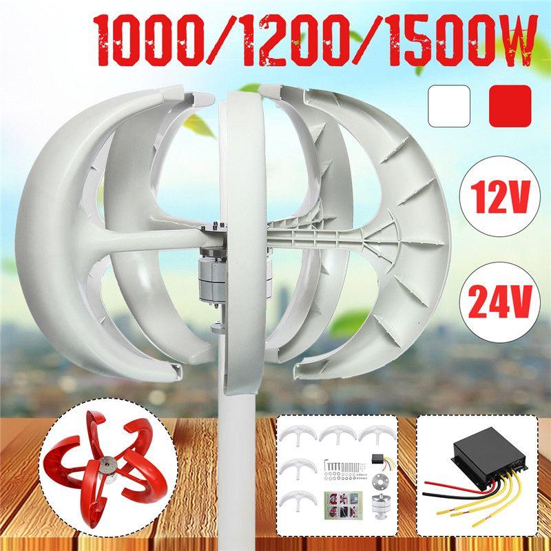 1500/1200/1000 W Wind Turbinen Generator Laterne 5 Klingen Motor Kit 12/24 V Vertikale Achse für Home Hybrid Straßenbeleuchtung + Controller