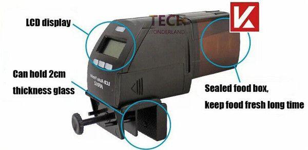 Aquarium numérique chargeur automatique de poissons tropicaux alimentaire fisha réservoir LCD chargeur automatique AF-012