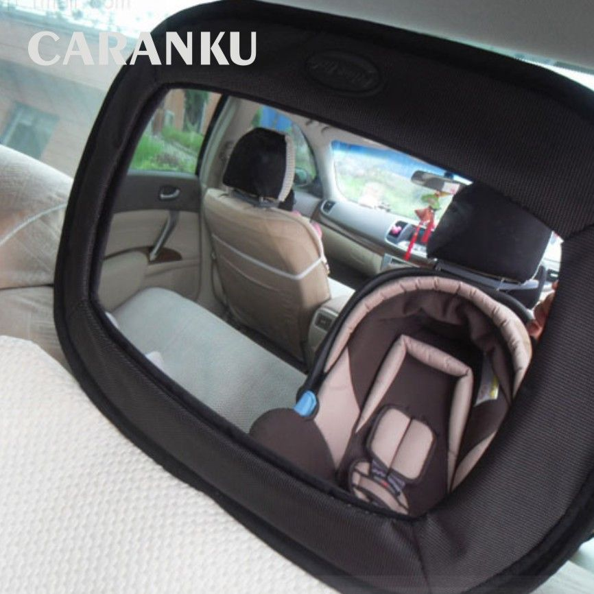 2017 New Car Safety Seat Mirror View Back Baby Car Safety Rearview Kids Mirror Baby Child Infant Adjustable Basket Mirror