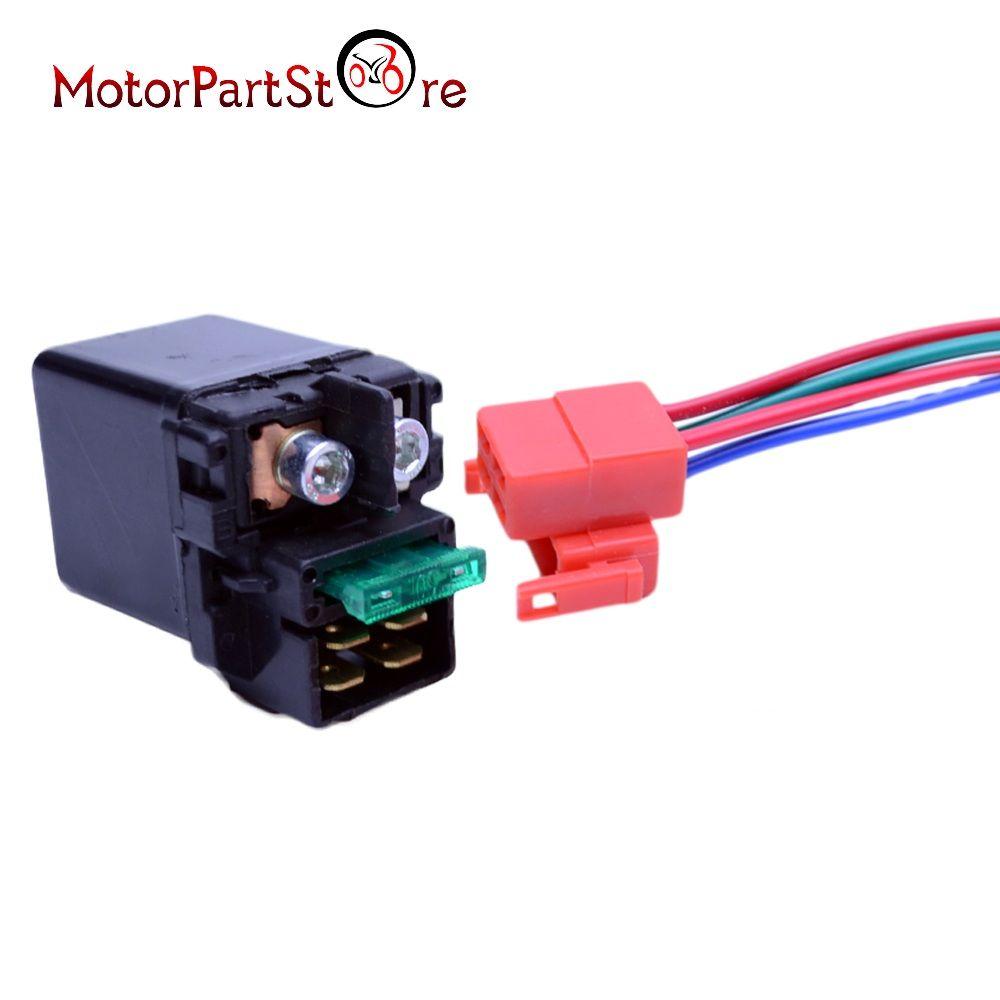 Starter Relay Solenoid + Plug for Honda CBR 600 954 1000 CB RVF RVT ST VFR VT *