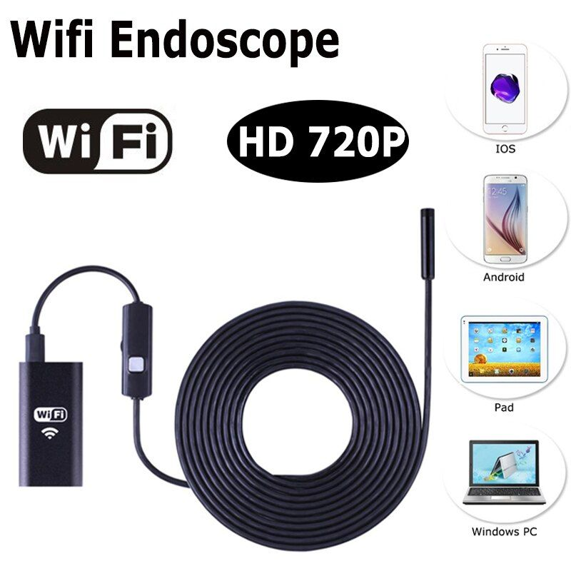 WIFI Endoscope Caméra Sans Fil HD 720 P 8mm Objectif 7 M 10 M Serpent USB Iphone Android Endoscope IOS Tablet Sans Fil Endoscope Caméra
