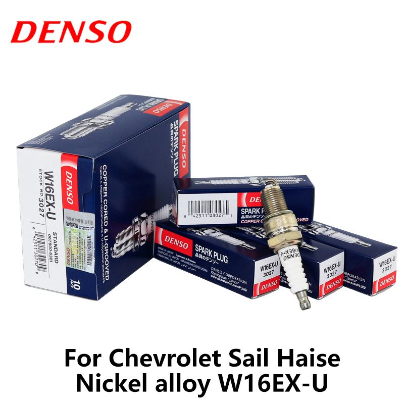 4pieces/set DENSO Car Spark Plug For Chevrolet Sail Haise Nickel alloy W16EX-U