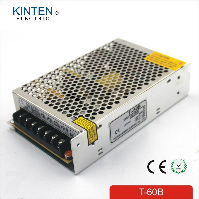 60W Triple output 5V 24V -12V Switching power supply smps AC to DC