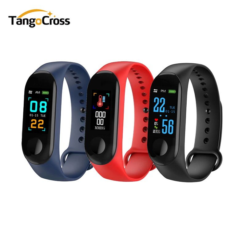 Fitness Bracelet Blood Pressure Outdoor IPS Screen Oxygen Heart Rate Monitor Smart Bracelet M3 Waterproof Wristbands Tracker