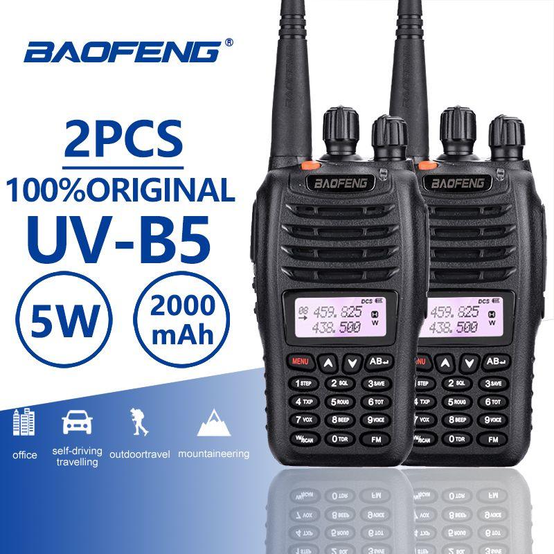 2pcs Baofeng UV-B5 Walkie Talkie Police Equipment Professional Dual Band PTT UV B5 Mobile Radio Hf Transceiver Ham Radio UVB5