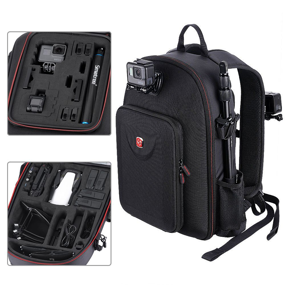 Smatree For DJI Backpack Hard Case Water-resistant For DJI Mavic Air /GoPro Hero Session/ Hero 6/5/4/3/2/1/Tablet PC Customized