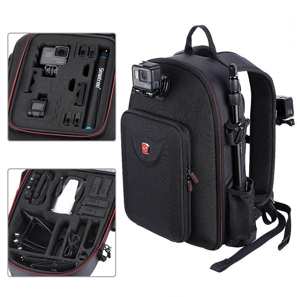 Smatree For DJI Backpack Hard Case Water-resistant For DJI Mavic Air /GoPro Hero Session/ Hero 6/5/4/3/2/1/Tablet PC Customized