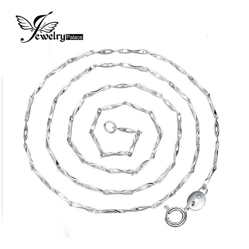 Jewelrypalace New Ingot Chain Necklace Wholesale Price Pure 925 Solid Sterling Silver 40 cm  45 cm Fine Jewelry