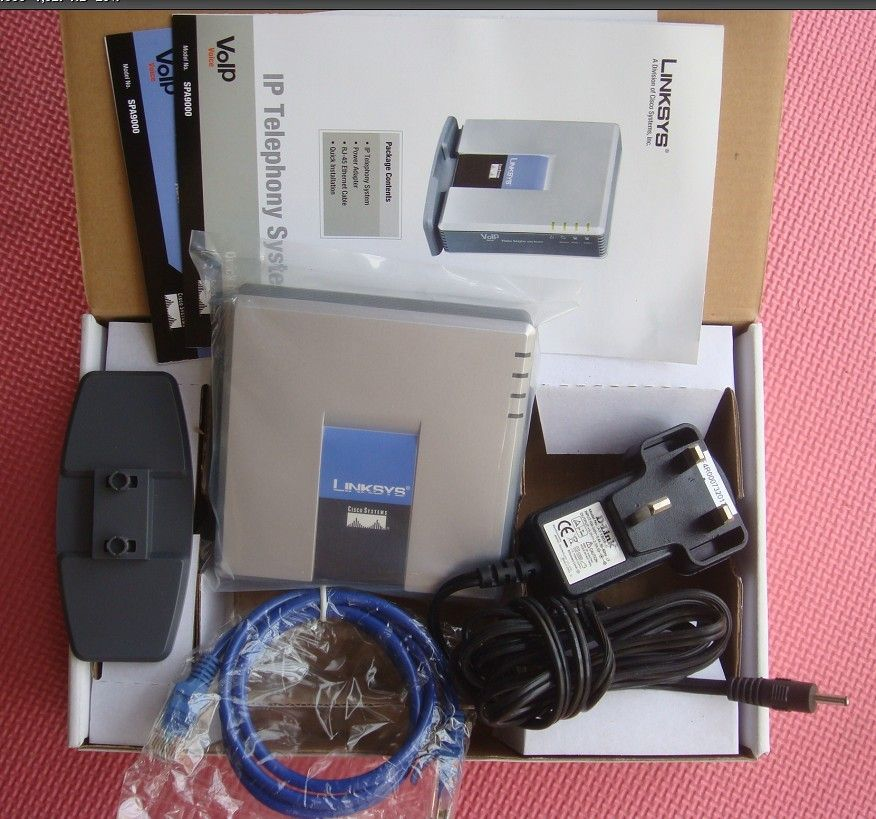 Brand New <font><b>Factory</b></font> Unlocked Linksys PAP2-NA PAP2T PAP2T-Na ATA phone adapter SIP VOIP Phone Adapter with 2 FXS phone