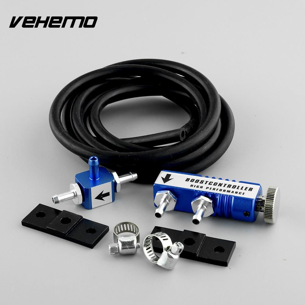 Vehemo New Universal Car Blue Racing Manual Operation 1-30 PSI Turbo Boost Charge Controller kit Adjustable High quality