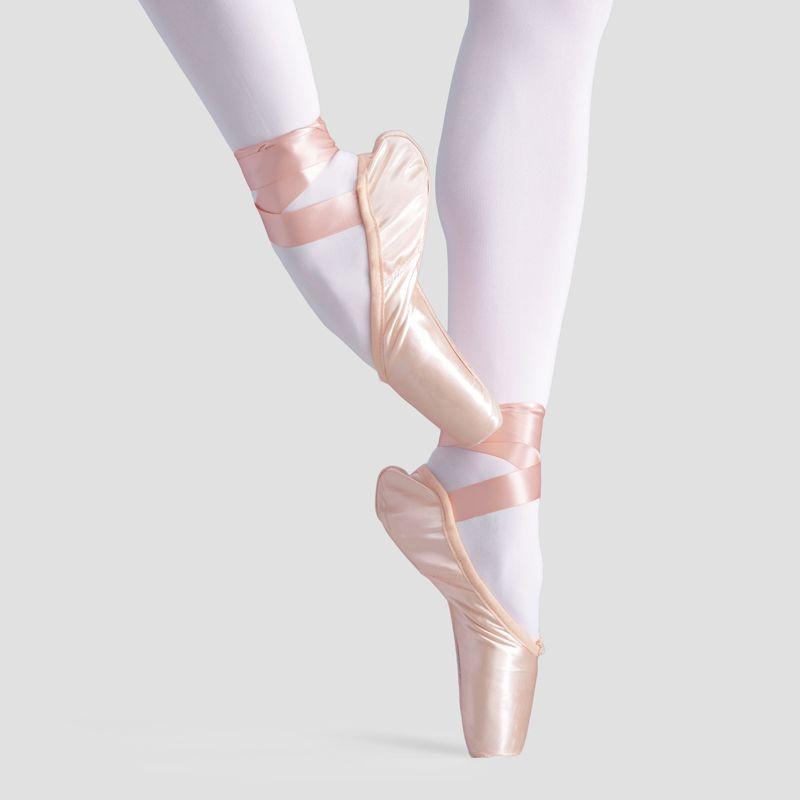 Satinado profesional de Ballet Pointe Danza Chicas Mujeres Adultas Zapatos de Ballet