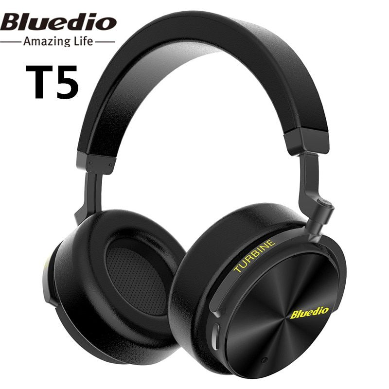 Bluedio T5 Active Noise <font><b>Cancelling</b></font> Wireless Bluetooth Headphone Portable Headset With Microphone For Gaming Music Phone