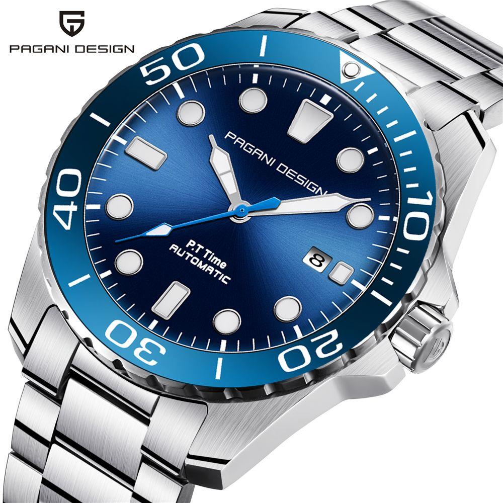 PAGANI DESIGN 2018 Neue Sport Business Edelstahl Männer Uhren Luxus Marke Männer Mode Mechanische Armbanduhr dropshipping