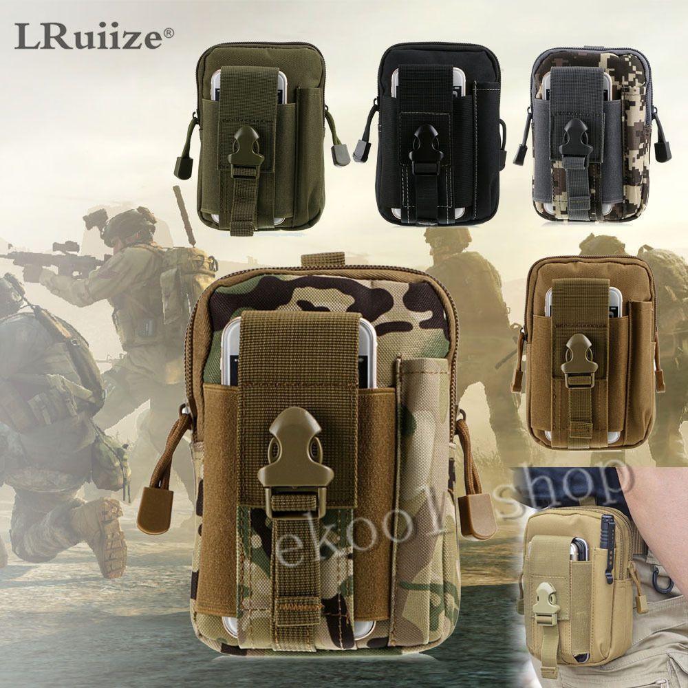 LRuiize Hommes de Sac sur Universal Armée Tactique Doux taille Téléphone Cas Sport Casual sac de Taille de course sac Militaire Tactique poche