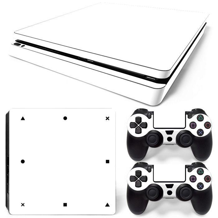 Neue Ankunft Benutzerdefinierte Neueste Reinweiß Design Wasserdichte Haut Aufkleber für PS4 Slim