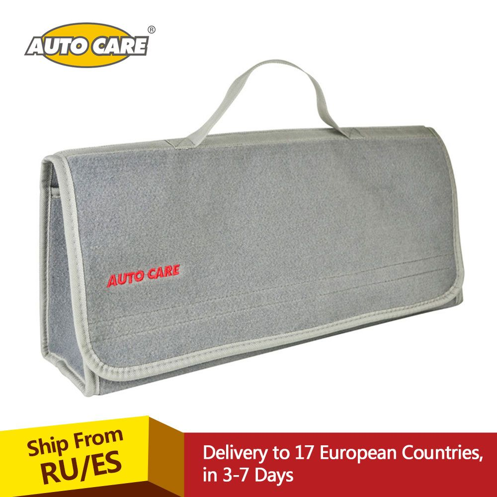 Auto Care Large Car Smart Tool Bag Grey Trunk Storage Organizer Bag Built in strong Velcrofix system holds to car carpet