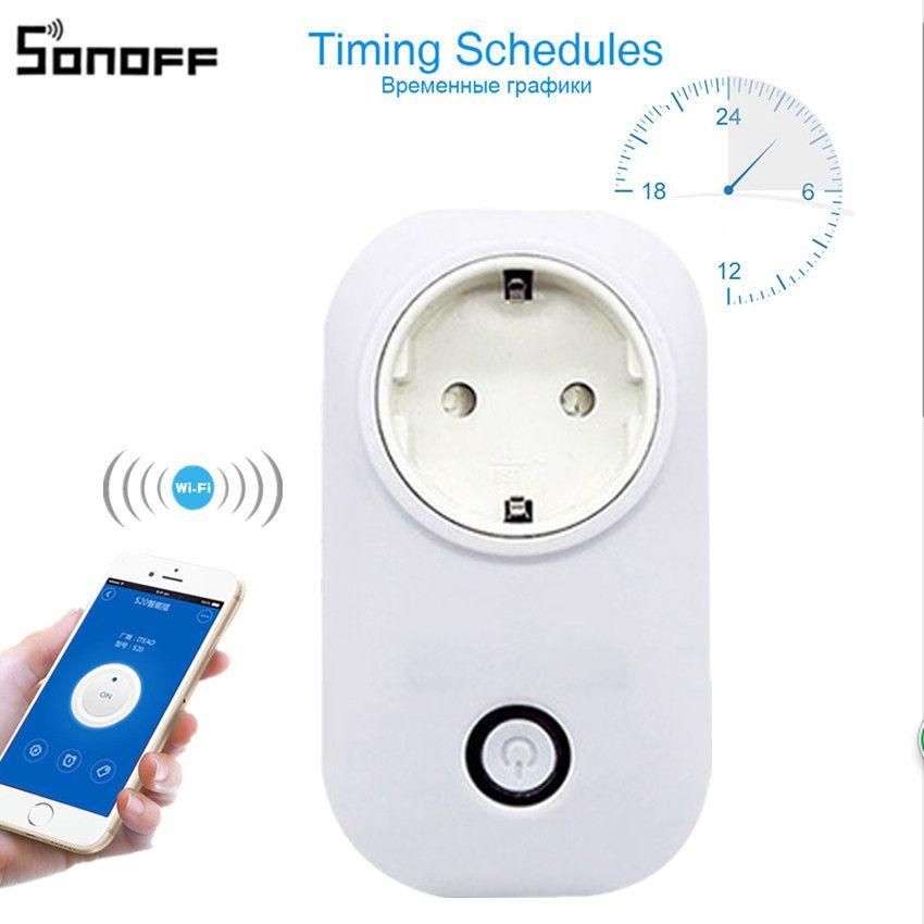 Sonoff S20 Wi-Fi Беспроводной удаленного гнездо умный таймер Plug Умный дом зарядки адаптер smart switch Мощность разъем ЕС Стандартный 39
