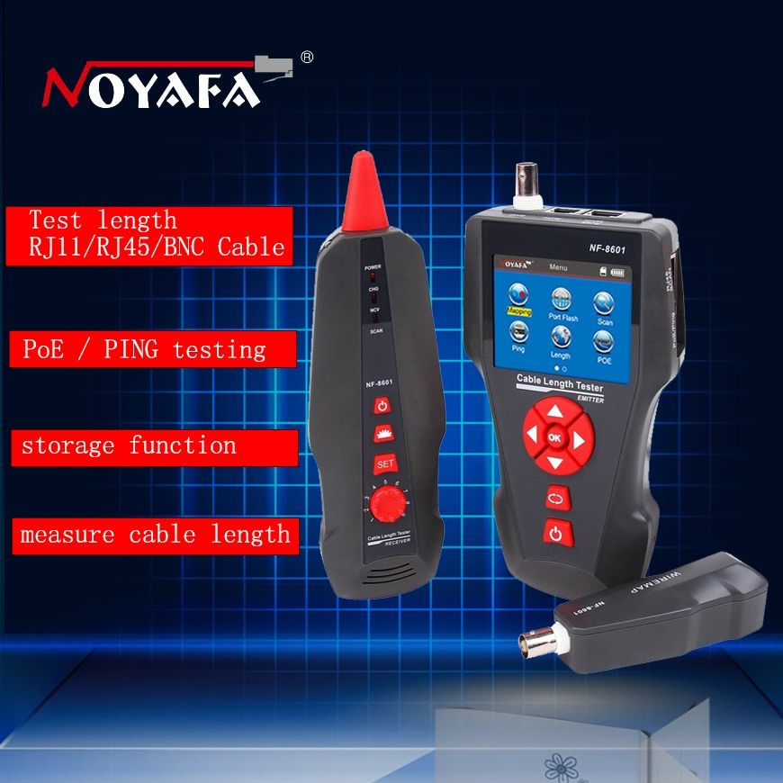 NF-8601 multifunktionale Netzwerkkabel Tester LCD Kabel länge Tester Haltepunkt Tester Kabel checker Telefon checker RJ45