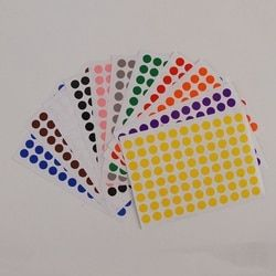 12 Sheets/Pack 8mm Round Dot Color Label Self Adhesive Dot Sticker Office School Supplies