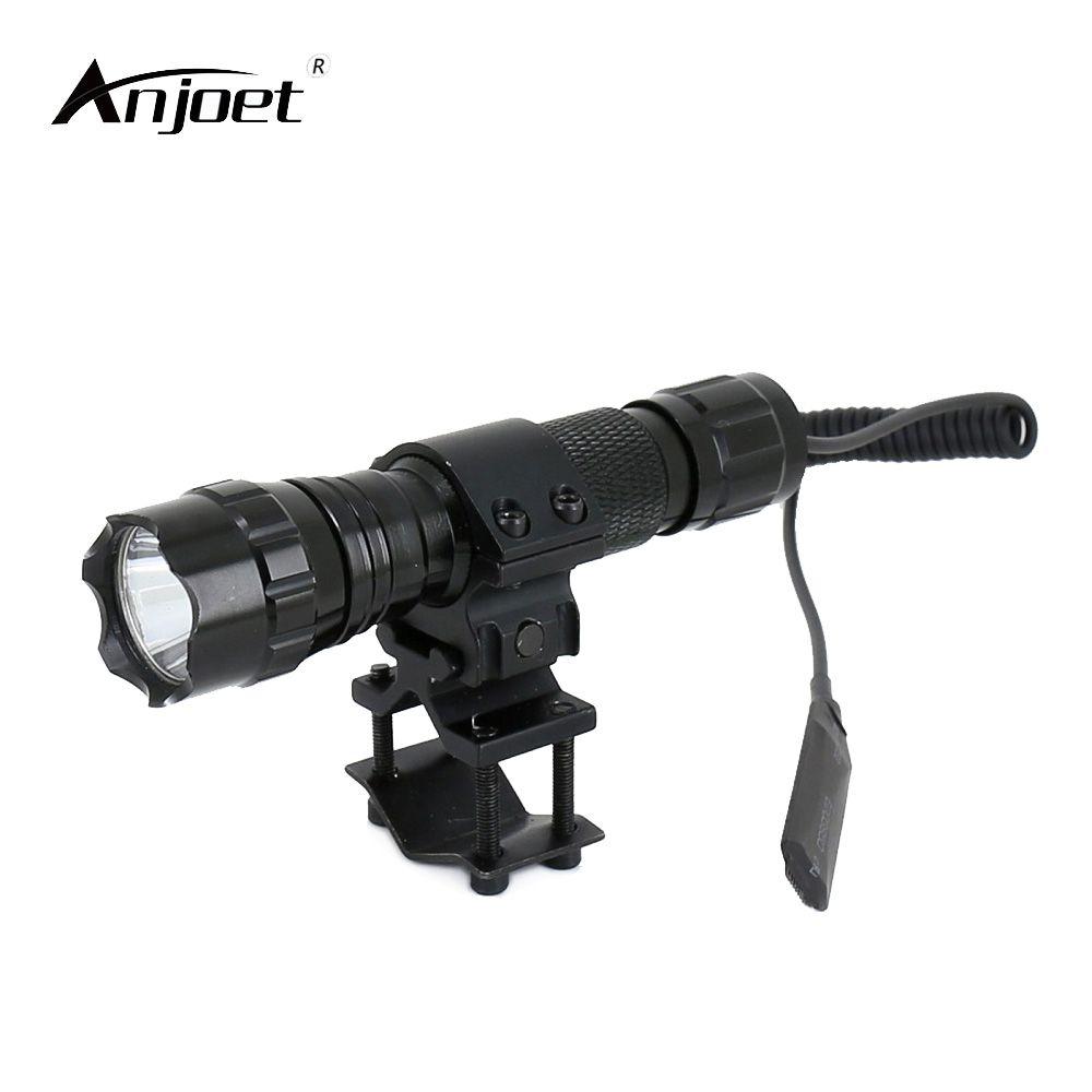 ANJOET 2000 lumens lampe de poche tactique T6 501B chasse fusil torche fusil de chasse éclairage tir pistolet mont + support tactique + commutateur à distance