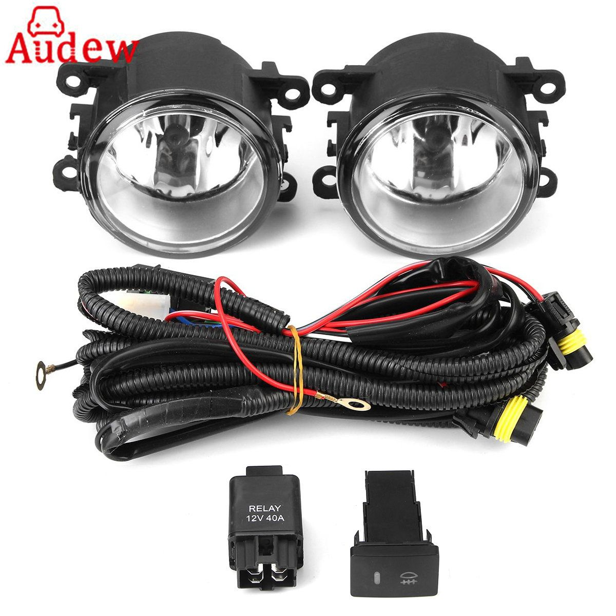 Pair Front Fog Light Clear Lens With Wiring Kit For Crosstrek /WRX/WRX STI/XV #84501FJ000