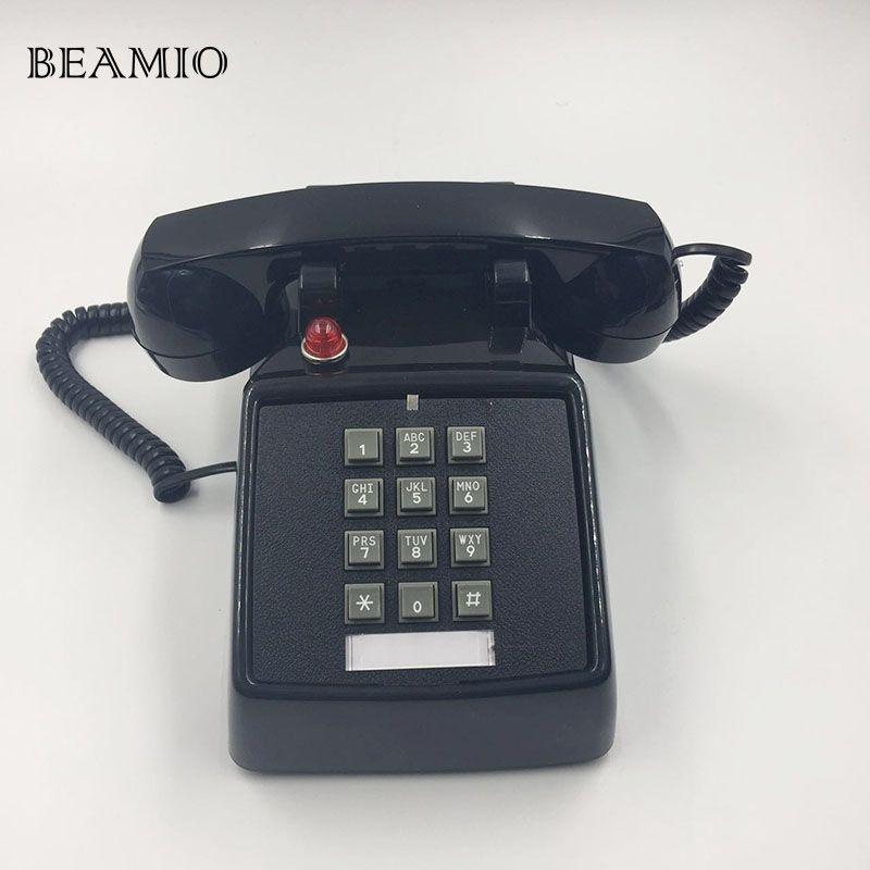 Rétro Téléphone Fixe à L'ancienne Américain Antique Téléphone Fixe Téléphone Home Office Hôtel