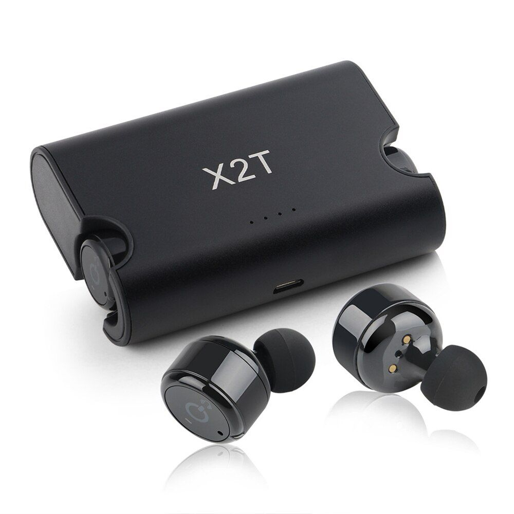 X2T True Wireless Earbuds TWS Mini In Ear Earphone Bluetooth 4.2 1500mAH Charger Box for iphone and andriods