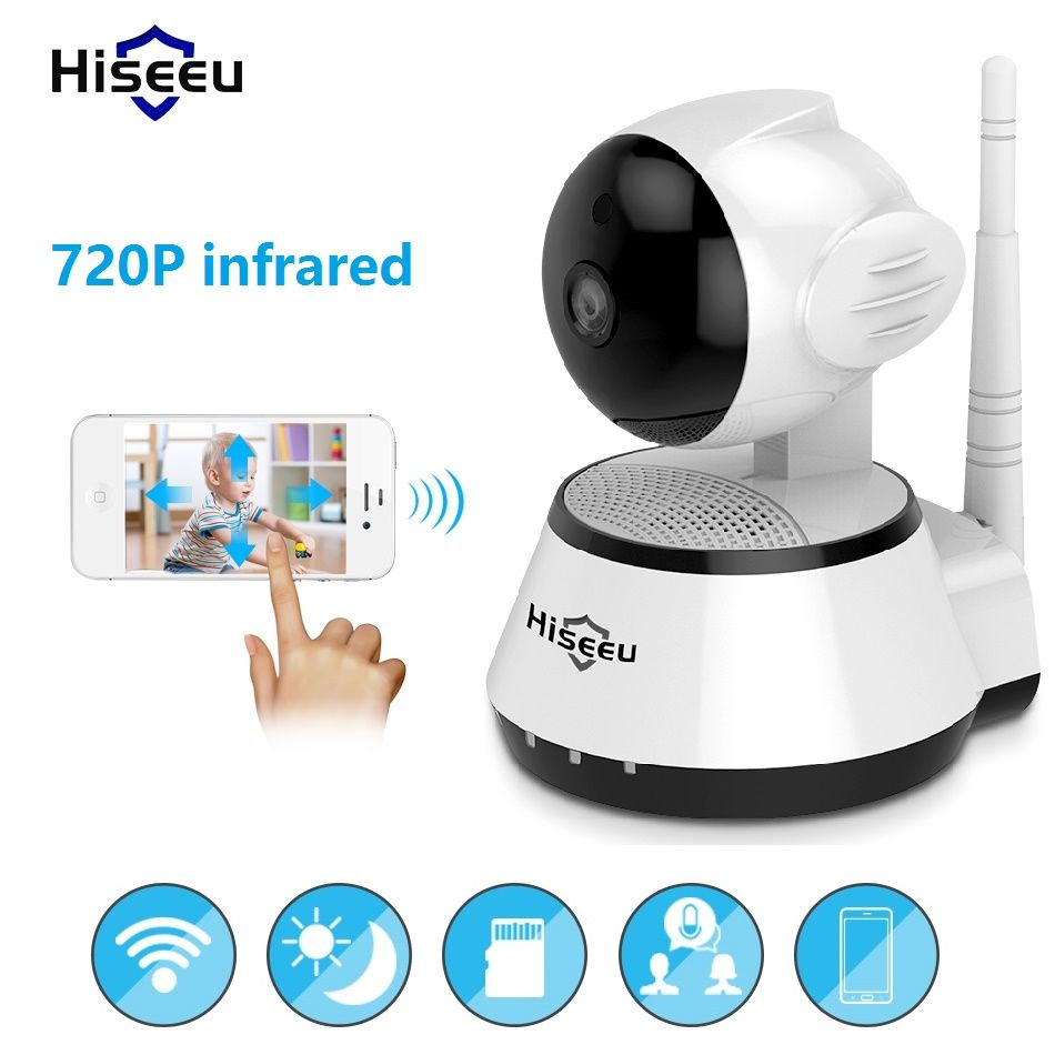 Infrared wi-fi cctv IP Camera Wireless Bayby Monitor 720P kamera 32G Memory viewed by YYP2P Yoosee Onvif Hiseeu