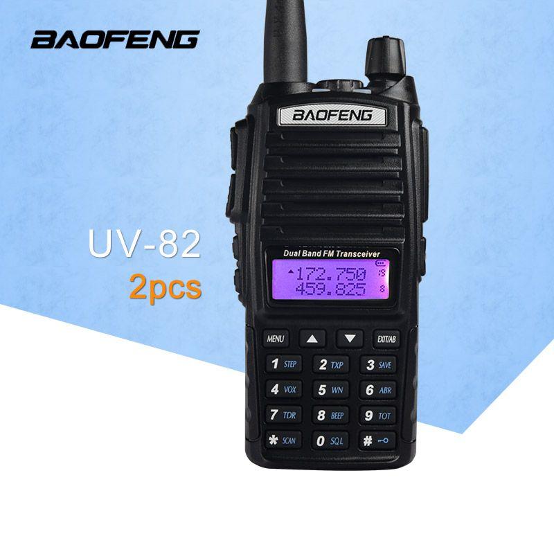 (2 pièces) BaoFeng UV-82 double bande 136-174/400-520 MHz FM Ham Radio bidirectionnelle, émetteur-récepteur, BaoFeng 82 talkie-walkie