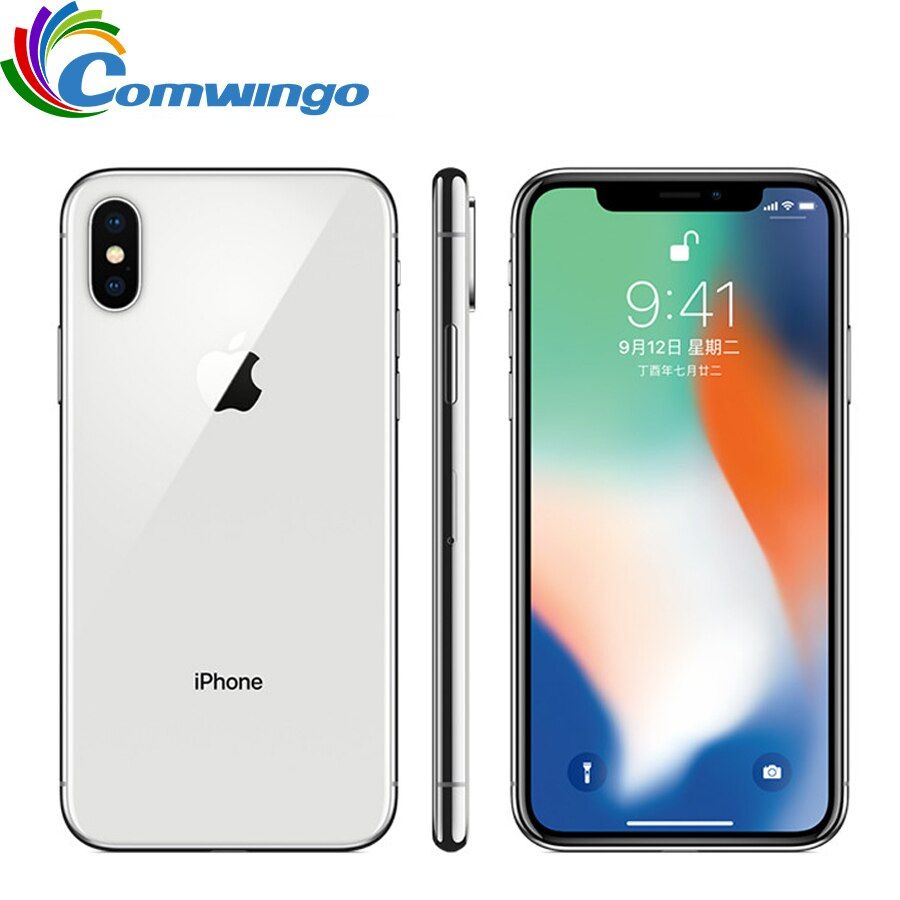 Original Apple iPhone X Face ID 64GB/256GB ROM 5.8 inch 3GB RAM 12MP Hexa Core iOS A11 Dual Back Camera 4G LTE Unlock iphonex