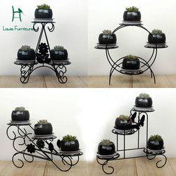 Louis Fashion Plant Shelves Mini Iron Art Office Desktop Multifunctional Windowsill for Balcony Flower Pots