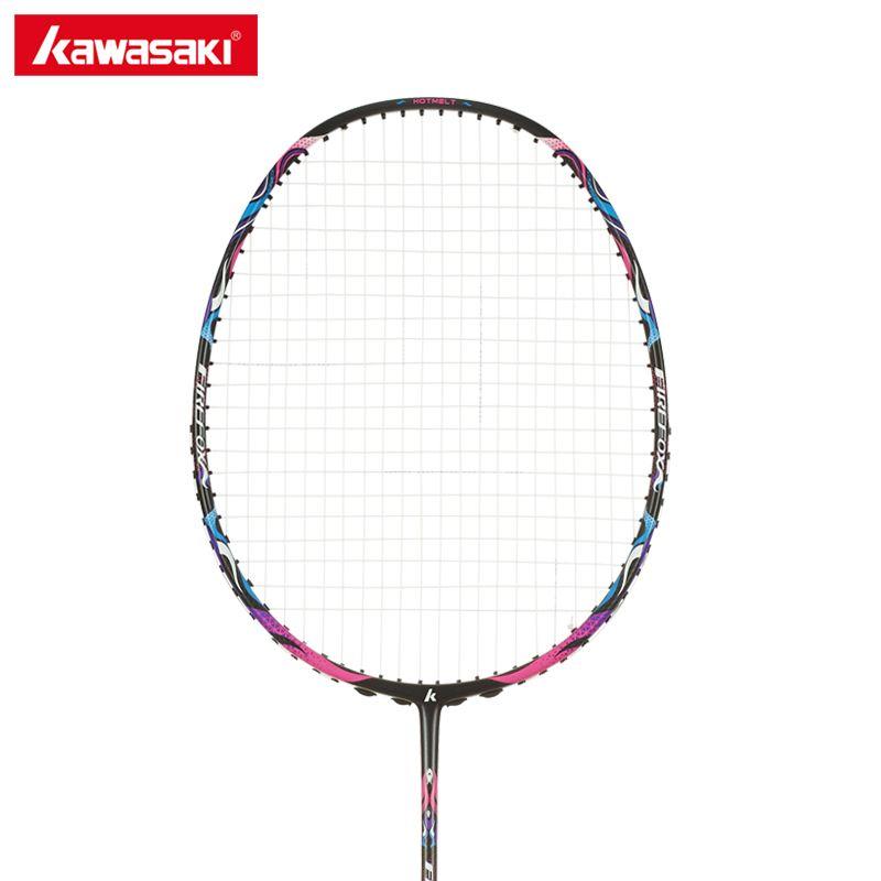 Kawasaki Professionelle Carbon Badminton Schläger 4U Schläger mit String Ball Typ Schläger für Anfänger Firefox S720